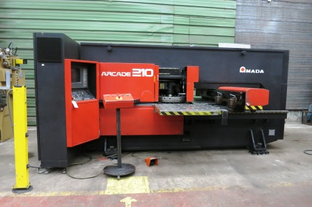 CNC PUNCHING MACHINE AMADA ARCADE 210  - 20 ton - 1000 x 1270 mm